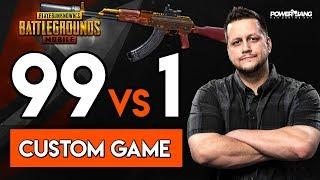 Video 99 PLAYERS vs. Powerbang - CUSTOM GAME w/ SUBS! PUBG Mobile MP3, 3GP, MP4, WEBM, AVI, FLV Juli 2018