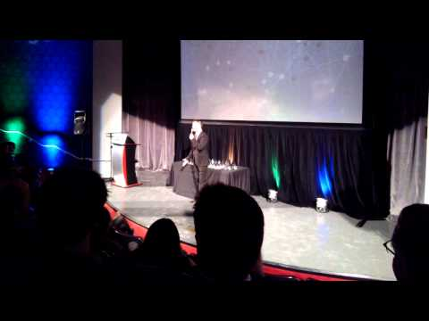 Comedian Bill Crawford Through Glass - Pittsburgh Addy Awards 2014