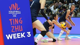China's Ting Zhu on fire: 26 Points vs. Italy | Volleyball Nations League 2019