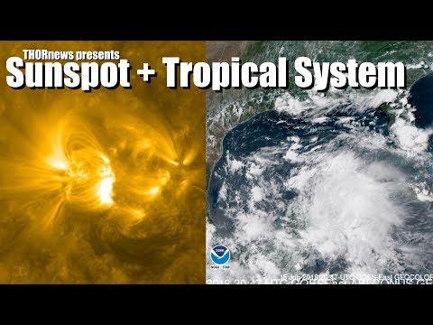 Texas! Earth facing Sunspot + Gulf  = Its a party that could get Dangerous, yall._A héten feltöltött legjobb nap videók