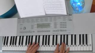 "LetterNotePlayer © ~  For free download of .pdf with the Piano Letter Notes & bass progression, go to: http://www.LetterNotePlayer.com/    Tutorial shows how to play the vocal melodies, with bass notes, as harmony for  ""Watch Out""  by 2 Chainz - on piano / keyboard, in the original key.     This tutorial  demonstrates the LH bass  notes, introduction arpeggios  & chords.  Demo uses a Piano/Pad - sound setting on the keyboard.  If you want to play  ""Watch Out"" this video makes it accessible; perhaps having you play most of it in just a few minutes.  Easily adapted to a ""rap along""    Also - follow me on Twitter - LtrNotePlayer - receive tweets whenever I upload a new video. If you subscribe to my channel you will automatically receive notices every time I upload a tutorial - I upload quite often - always a requested song."