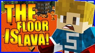 THE FLOOR IS LAVA CHALLENGE!?   Minecraft Map   AWESOME GAME MODES & LEVELS!?