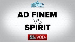 Spirit vs Ad Finem, game 1