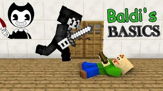 Monster School : BALDI'S BASICS VS BENDY AND THE INK MACHINE CHALLENGE - Minecraft Animation