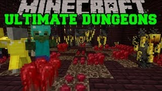 Minecraft : ULTIMATE DUNGEONS - Chests, Spawners, Epic Rooms - Mod Showcase