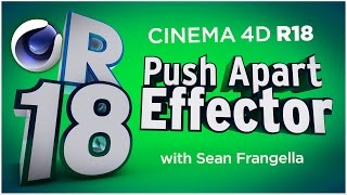 In This Cinema 4D R18 tutorial video, learn about an update to the MoGraph Cloner Animation system, the MoGraph Push Apart Effector. With the new C4D R18 Push Apart Effector, you can automatically move intersecting clones in a cloner system out of the way of each other using different settings. With the new Cinema 4D R18 Push Apart Effector, you can also use it to hide overlapping clones, as well as scale down clones to ensure they are not intersecting. You can also use the new Push Apart Effector to create different MoGraph Cloner animation not possible before Cinema 4D R18. This new feature and updates in Cinema 4D R18  are just a few of many updates for C4D R18, available in 2016. There are also additional updates to Cinema 4D R18 including the Material updates with the ThinFilm Shader and Parallax Bump Mapping, Inverted Ambient Occlusion, the new Shadow Catcher materials, MoGraph updates, new effectors, and more! To learn about other updates to Cinema 4D R18, be sure to check out www.MotionTutorials.net/updates-new-featuresBe sure to check out the new product, 360° Environment Maps Pro for Cinema 4D, Cinema 4D Lite, and Element 3D in the online store:  http://www.motiontutorials.net/store/With 360° Environment Maps Pro, you can get new environments for your Cinema 4D & Element 3D Projects.Check it out for Cinema 4D / C4D Lite:  http://tiny.cc/bqmbcyCheck it out for Element 3D for AE:  http://tiny.cc/1qmbcyTo learn about the new MoGraph Animation Features for Cinema 4D R18 individually, check out these videos:MoGraph R18 Cloner HoneyComb Array:  http://tiny.cc/mv84cyMoGraph R18 Scaling:  http://tiny.cc/gt84cyMoGraph R18 Push Apart Effector:  http://tiny.cc/su84cyMoGraph R18 ReEffector:  http://tiny.cc/iu84cyMoGraph R18 Weight Painting:  http://tiny.cc/ct84cyLike this tutorial? Consider becoming a Patron at Patreon.com/SeanFrangella to get additional benefits such as project files and more! Be sure to check out http://www.MotionTutorials.net for weekly tutorials on Cinema 4D, After Effects, Element 3D, Adobe Fuse and other cool motion graphics apps! This free Cinema 4D R18 tutorial also covers 3D animation tips and tricks in C4D.To get weekly Cinema 4D, Element 3D, After Effects, Motion Graphics, VFX, and 3D animation tutorials be sure to subscribe!http://www.youtube.com/subscription_center?add_user=SEANFRANGELLA To check out new features added to Cinema 4D R17, check out this video!http://tinyurl.com/gtf2h9rTo check out new features added to Cinema 4D R16, check out this video!http://tinyurl.com/ptphgwhCheck out the Top 5 Features of Element 3D V2 for After Effects!http://tinyurl.com/p3g4nwq