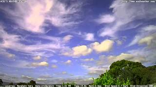 Adelaide weather time Lapse  Sat 27 06 2015
