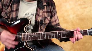 How to Play Slow Ride by Foghat on Guitar - Main Riff - Easy Guitar Riffs - Classic Rock ES 335