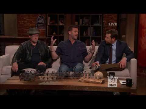 Talking Dead - Karl Makinen (Richard) on his final scene with Lennie James (Morgan)