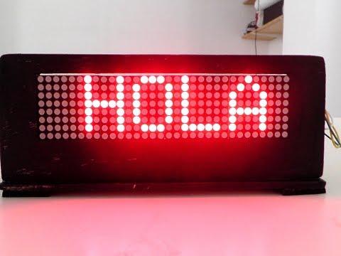 Como hacer una pantalla led 8x32 con arduino .RamosElectroDron
