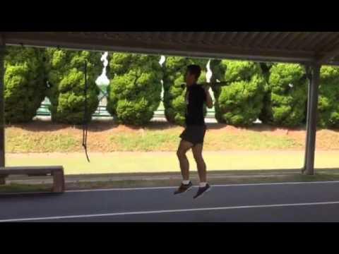 走高跳選手のシャフトスキップ