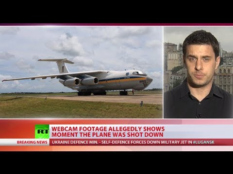 Ukraine military Il-76 plane downed by self-defense forces in Lugansk