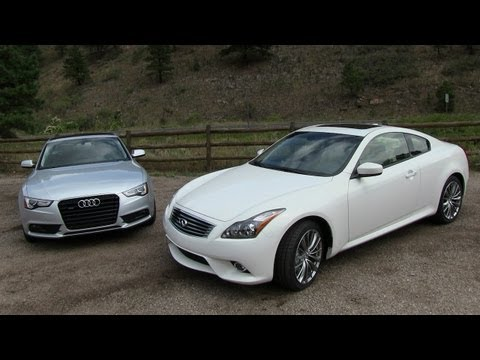 2013 Audi A5 vs Infiniti G37 Coupe 0-60 MPH Mile High Mashup Review