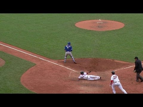 Video: TOR@BOS: Nava plates Pedroia with a sacrifice fly