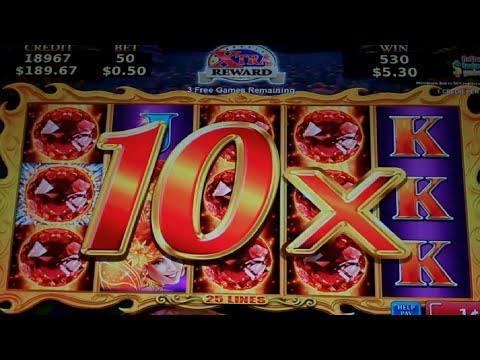 Volcanic Rock Fire Slot Machine Bonus - Free Games w/ Random Wilds + Multipliers - MEGA BIG WIN (#3)