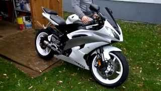 10. 2009 Yamaha YZF R6 graves full exhaust rev