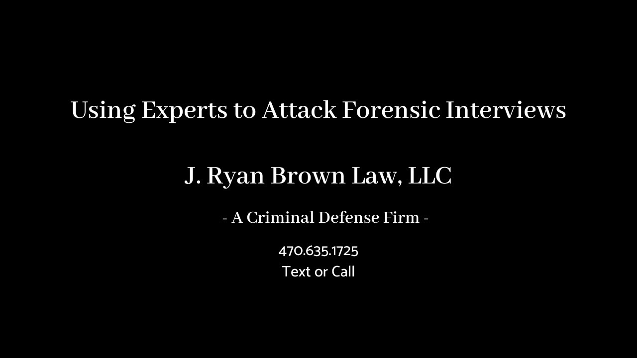 Using Experts to Attack Forensic Interviews