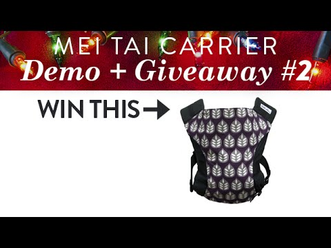 How to Carry a Newborn Infant in the Catbird Baby Mei Tai + GIVEAWAY | CloudMom