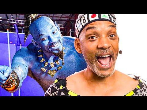 Will Smith as Genie Behind the Scenes - ALADDIN Bonus Clips (2019)
