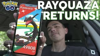 SHINY RAYQUAZA RAIDS IN POKÉMON GO!! by Trainer Tips