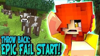 Throw Back: EPIC FAIL!! First Time Playing Minecraft - DOLLASTIC PLAYS!