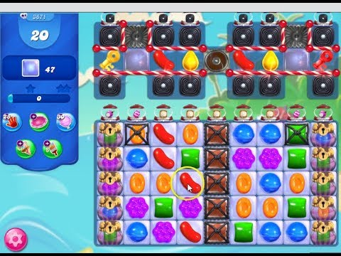 Candy Crush Saga Level 3671 - 1xHand 2xLollypop