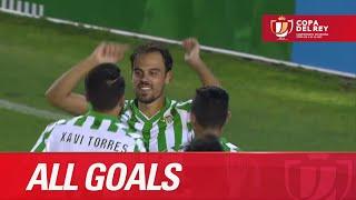 Todos los goles de Real Betis (2-0) UE Llagostera - HD  Copa del Rey