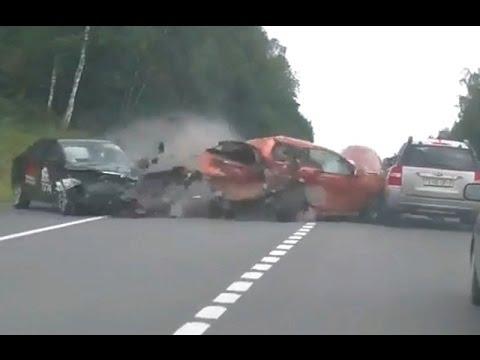 Самые жёсткие и страшные аварии  2016 года