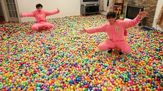 EPIC EASTER EGG PRANK ON FAMILY! (100,000+ EGGS)