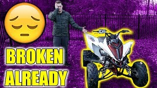 8. I BROKE MY NEW QUAD ALREADY..  (RAPTOR 700R SE)