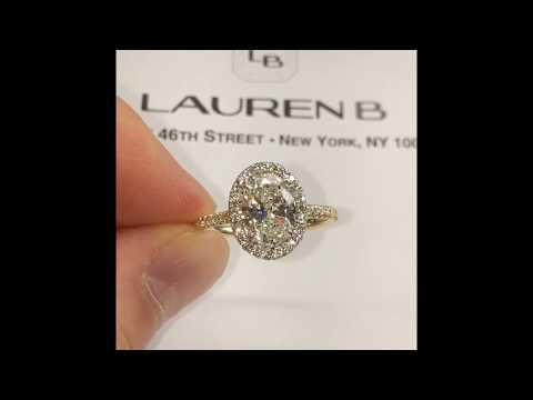 1.70 ct Oval Diamond Halo Engagement Ring