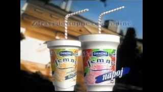 Danone Jemný - Jogrutový nápoj - stará reklama z roku 2000