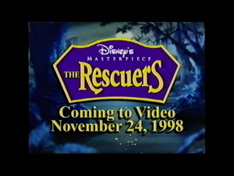 THE RESCUERS MOVIE TRAILER [VHS] 1977/1998