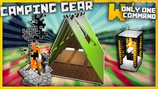 Minecraft - Camping Gear with only two command blocks! (1.9 command   tents, campfires & more!)