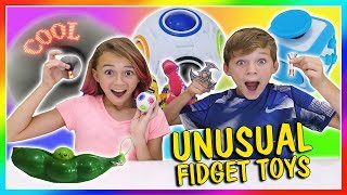 """Kayla and Tyler show and give you their opinion of several unusual fidget toys on the market. See which ones are their favorite! Subscribe https://www.youtube.com/c/wearethedavises?sub_confirmation=1LED hand spinner https://www.bestorx.com/hand-spinner-led-words.htmlOur mailing address:We Are The Davises28241 Crown Valley Pkwy Suite F #613Laguna Niguel, CA 92677""""We Are The Davises"""" is an entertaining family vlog channel based in Florida. Our daily videos show our real life moments, challenges, funny skits, and traveling adventures. Shawn is an outstanding father and husband that enjoys coaching children in team sports like football and wrestling. Connie is very creative with our channel as she makes everything in our lives as fun and entertaining as possible while still molding our kids into the amazing people they are today. Kayla is currently 12 years old. Her passion is competitive cheer leading and loves all animals from fluffy puppies to the little frogs. Tyler is 11 years old and is obsessed with playing video games and team sports such as football. We are excited to share our fun filled journey!Check out our gaming channel We Are The Davises Gaming if you love gaming videos.https://www.youtube.com/channel/UCShsPtvK0WzxjljpN4rhVzgPlease be sure to check out all of our social media platforms that we have listed below for you.Twitter:  https://twitter.com/wearethedavisesFacebook:  https://www.facebook.com/wearethedavises/Instagram: https://www.instagram.com/wearethedavises/Google+: https://plus.google.com/u/0/+WeAreTheDavises2016/postsSnapchat:  https://www.snapchat.com/add/wearethedavisesMusical.ly:  wearethedavisesDo you like certain types of videos? Come and check out the playlists that we have setup to make it easier for you to watch what you like.Here is a playlist of all our daily videos. https://www.youtube.com/playlist?list=PL1SgveIsSpIqtjNq-QnGHSHxv410nkJfyThis playlist was put together specifically for all you Kayla fans.https://www.youtube.com/playlis"""