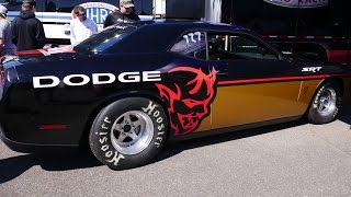 LINK TO ARTICLE ABOUT BAN AND TESTING AT GATOR NATIONALS: http://www.digitaltrends.com/cars/2018-dodge-challenger-demon-nhra-ban-explained/2017 Gator Nationals and the Dodge Demon was making its first public test run. We asked a Dodge rep if this was an actual Demon mule, to which he confirmed. When we asked for specs he declined to comment.
