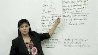 5 ways to say sorry, Polite English