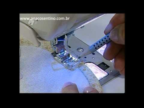 Patchwork Ana Cosentino: Bloco Curvas II (Ateliê na Tv)