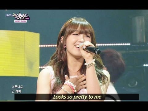 Jung Eun Ji - Huh Gak and Jeong Eunji - Short Hair (2013.06.29) [Music Bank w/ Eng Lyrics] You walk over from far away And you look so different You look so pretty I catch...