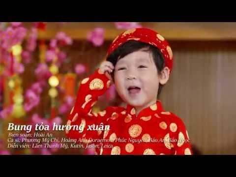 MV nhạc Xuân - Bung Tỏa Hương Xuân - Phương Mỹ Chi, Bảo Ngọc, Bé Ku Tin