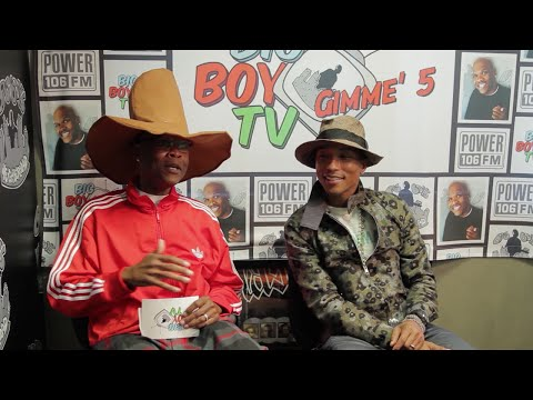 Pharrell Explains Why He Doesn't Age, What Makes Him Happy, and More!   BigBoyTV