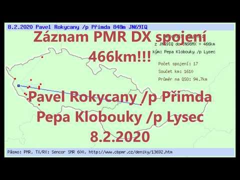 Záznam spojení rekordního DX 466 km