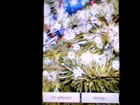 Video of Snowing Snowflakes Wallpaper