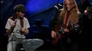 Willie Nelson and Shania Twain, Blue eyes crying in the rain Video