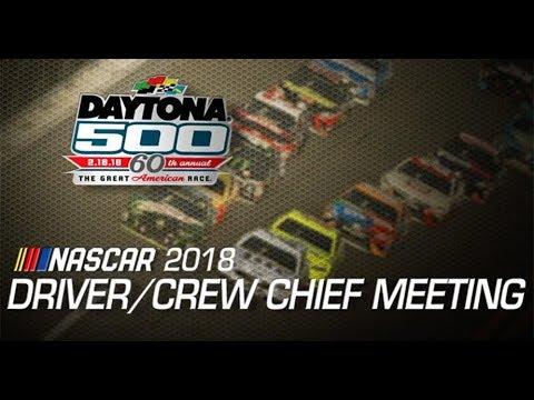 Driver meeting video: Daytona 500