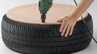 Video Man Drills A Hole In A Tire And Creates The Coolest Thing We've Seen In A Long Time MP3, 3GP, MP4, WEBM, AVI, FLV Oktober 2017