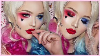 Suicide Squad HARLEY QUINN Glam Makeup Tutorial - YouTube