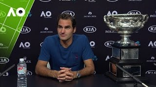 Press conference with Australian Open 2017 men's singles Champion Roger Federer, following his win over Rafael Nadal.