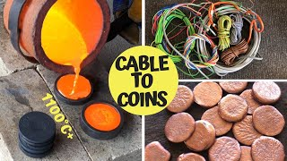 Video Trash To Treasure - Cable To Coins - Pouring Copper Coins From Scrap MP3, 3GP, MP4, WEBM, AVI, FLV November 2018