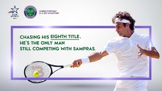 Chasing history. Can Roger Federer pass Pete Sampras and win a record-breaking 8th Wimbledon title? Watch all the...